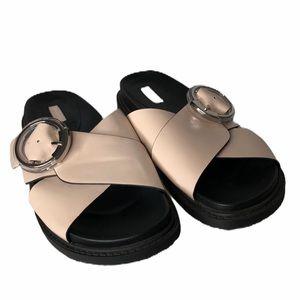 Topshop crossover buckle strap slide sandal